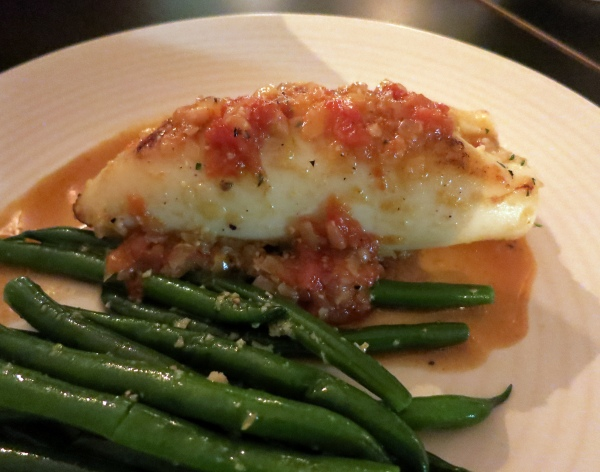 garlic stuffed calamari, green beans - $32